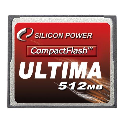 512mb Compactflash-flash Memory Card (Silicon Power Compact Flash Memory Card 512MB (45X))