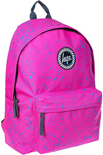 Hype Uomo Zaino, Nero Speckled Bright Pink/Blue