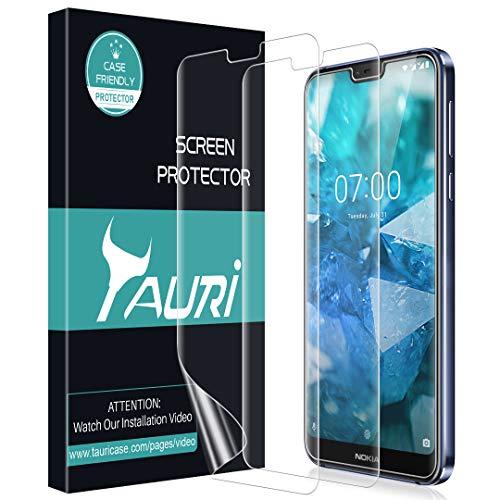 TAURI [3 Stücke] Schutzfolie Flüssigkeit Haut für Nokia 7.1 [Wasser Installation] Klar HD TPU Folie Bildschirmschutzfolie [Blasenfreie, Einfache Installation]