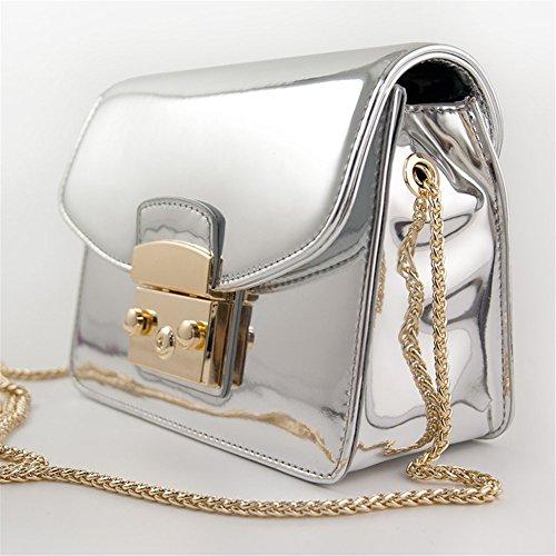 Remeehi, Borsa a tracolla donna, Silver (argento) - ZY00028-2 Silver