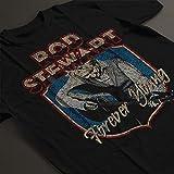 Rock Off Rod Stewart Forever Crest Manches Courtes Hommes T-Shirt Noir