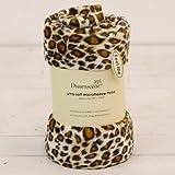 Leopard Print Large Size Super Soft Snug Fleece Blanket / Bed Sofa Throw Size - 140cm x 190cm