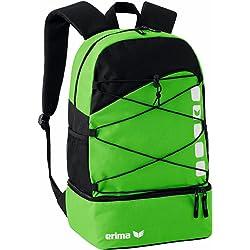 erima Multifunktionsrucksack mit Bodenfach - Bolsa para botas de fútbol, color verde/negro, talla 46 x 29 x 18 cm