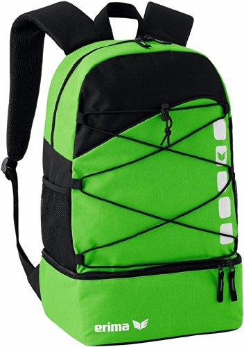 erima Multifunktionsrucksack mit Bodenfach, Green/Schwarz, 48.5 x 36 x 3.5 cm, 16 Liter, 723422