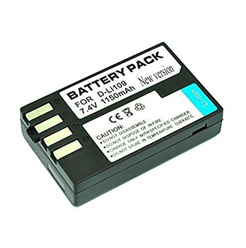 Mondpalast @ 1 x Batterie de Remplacement 1150 mAh D-Li109 Dli109 pour Pentax K-70 PENTAX K70 DSLR Camera