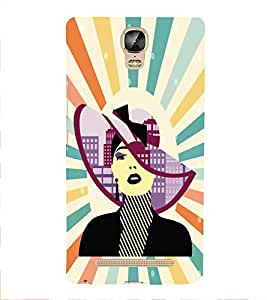 PrintVisa Fashion Women Hat 3D Hard Polycarbonate Designer Back Case Cover for Gionee Marathon M5 Plus