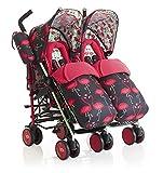 Cosatto Supa Dupa Twin Stroller Flamingo Fling - Pink