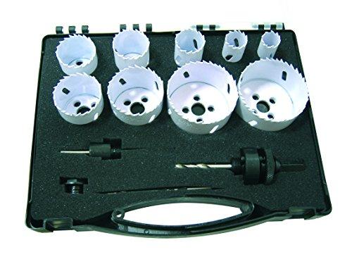Leman 5090 Coffret de 9 Trépans bi-métal ø 16 à 102 mm avec 2 mandrins/3 Forets
