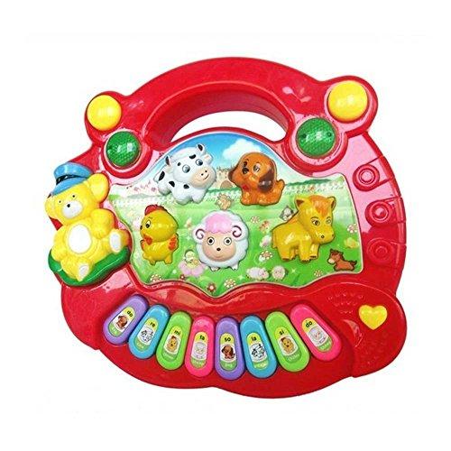 ZREAL Bebé Niños Musical Piano Educativo Granja de Animales Granja d