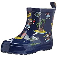 Playshoes Wellies Boys Short Allover Print Wellington Boots