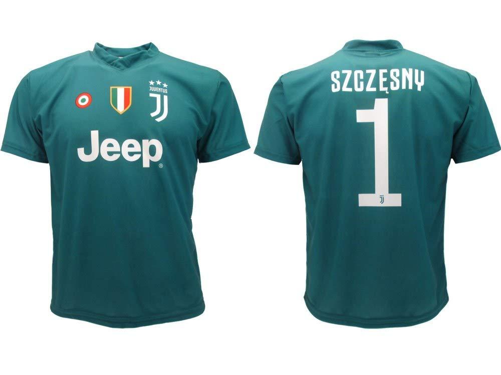 1517866fc5d7ee Maglia Juventus Szczesny 2019 Ufficiale Stagione 2018/2019 Replica  Autorizzata Portiere Juve Verde