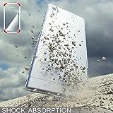 Sony Xperia XZ Hülle Handyhülle von NICA, Slim Silikon Motiv Case Phone Cover Crystal Schutzhülle Dünn Durchsichtig, Etui Handy-Tasche Backcover, Transparenter Bumper, Designs:Chain Feathers -