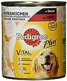 Pedigree Adult Plus Hundefutter Markknochen - Rind in Sauce, 12 Dosen (12 x 800 g)