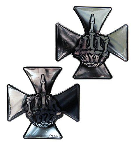 910051de VA–Juego de etiquetas 3d Iron Cross cromo–No barato pantalla adhesivo