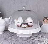 PALAZZO INT Kuchenglocke Fussschale Glashaube Tortenplatte Glasglocke Shabby Chic