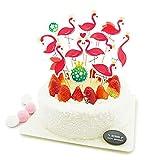 10PCS Geburtstagskuchen Topper, Kuchen Dekorieren, Flamingo, Einhorn, Halloween, Weihnachtsmann, Weihnachtshirsch - favourall