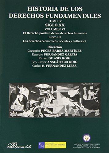 Historia de los derechos fundamentales Tomo IV Vol. VI Libro III: 4 por Aa.Vv.