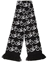 FLOSO® Unisex Bicycle Pattern Knitted Winter Scarf With Fringe