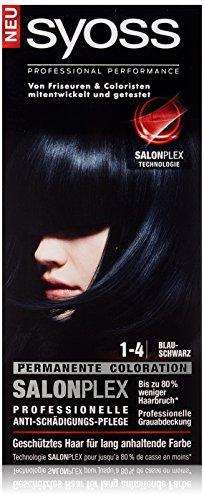 Syoss Haarfarbe, 1-4 Blauschwarz, 3er Pack (3 x 115 ml)