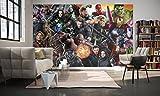 Komar 038-DVD4 Avengers Vlies Fototapete, Mehrfarbig, 400 x 250 cm