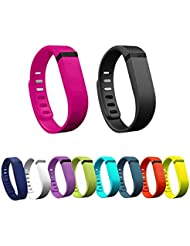 YooNeo 10PCS Large/Small Replacement Wrist Band with Clasps for Fitbit Flex (No Tracker)