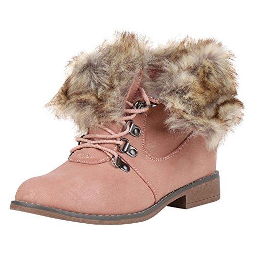 Boots Gefütterte Stiefel napoli Kunstfell Jennika Braun Damen Rosa Stiefeletten Outdoor Warm fashion gw6wqUS