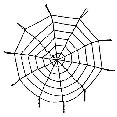 Schwarz/Weiß, groß, gruselige Halloween-Dekoration Spinne Netz Spinnennetz Party-Geschenk