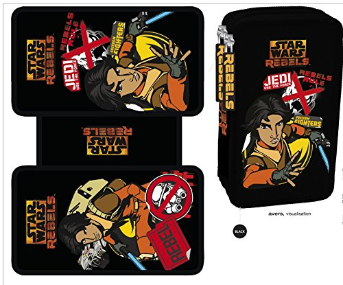Exclusiv * Star Wars rebelen Estuche Escolar Clone Wars Estuche Relleno Inoxidable 2015