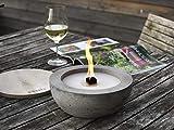 Beske-Betonfeuer mit 'Dauerdocht' | Ø 24cm mit großer Brennkammer | Wiederbefüllbare Gartenfackel | 'Unendliche' Brenndauer durch Recycling von Kerzenwachs | Tischfeuer Fackel Kerze Outdoor