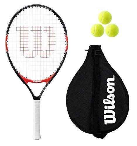 Wilson Federer Junior 19,21,23,25,26 Tennisschläger + 3 Tennisbälle RB - 23