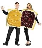 Unbekannt Erdnussbutter Marmelade Sandwich Kostüm Set gelb-beige-rot Einheitsgröße
