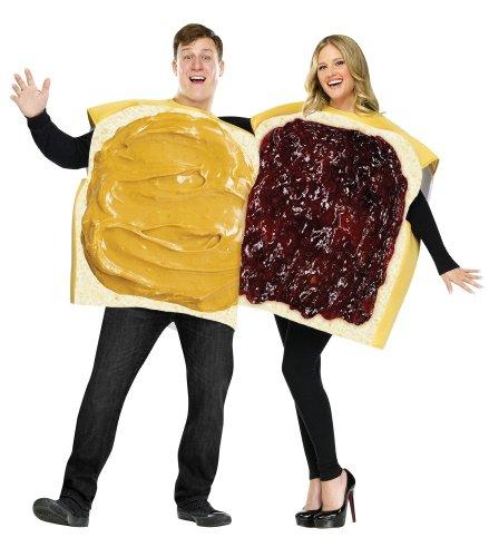 Unbekannt Erdnussbutter Marmelade Sandwich Kostüm Set gelb-beige-rot -