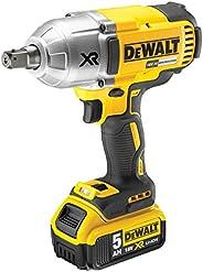 DEWALT 18V Cordless Brushless 5.0Ah Impact Wrench, 950Nm Max Torque, Yellow/Black, DCF899P2-GB, 3 Year Warrnty
