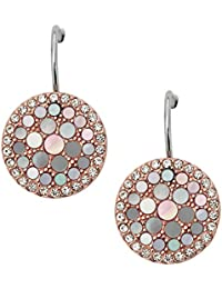 Fossil Women's Earrings Stainless Steel Cubic Zirconia White JF01737791
