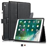 """KAVAJ iPad Pro 10.5"""" Hülle Echtleder Case London für Apple iPad Pro 10,5 Zoll (2017) Schwarz aus echtem Leder mit Stand und Auto Schlaf/Aufwachenen Funktion. Dünnes Smart Cover Schutzhülle Tasche"""