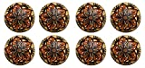 #8: Amber Shine Ceramic Door Knobs Handpainted & Decorative/ Door Handles/ Cabinet/ Wardrobe / Almirah / Drawer / Door Pulls/ Cabinet Pulls/ Drawer Pulls (Set of 8)