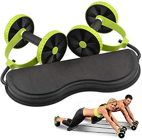 NISHAJ for Gym & Home Use, Tummy Fat Burner & AB Build Up Tool for Man and Woman Use | 2 Tubes Latex Foot Elastic Pull Rope Expander Muscle Fitness Workout Pedal (Multi Uses)