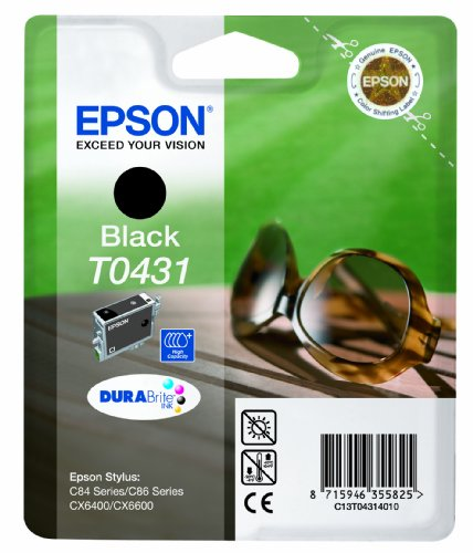 Epson T0431 Cartouche d'encre d'origine haute capacité 1 x noir boîtier rigide