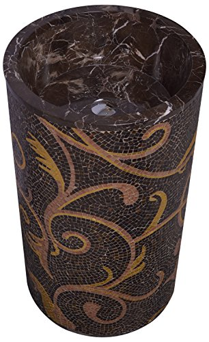 SCPL Marble Basin In Joints (18 Inches/6 Inches x 34 Inches HT, Brown)