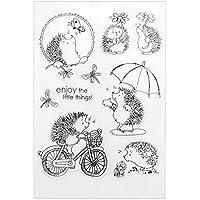 Kit de tarjetas para álbumes de recortes YouN, manualidades creativas para niños, adultos, sello transparente, silicona para decoración manualidades..., no.59, 160.00*110.00*5.00mm