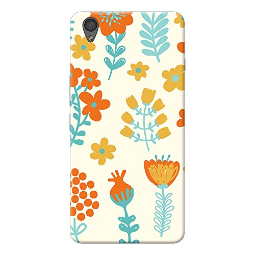 INKIF Leaves And Flowers Designer Case Printed Mobile Back Cover for One plus X /Oneplus x (Multicolor)