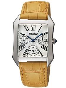 Reloj Seiko SKY737P2 de cuarzo para mujer con correa de piel, color marrón de Seiko