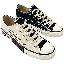 c915bf8f4 ZS Zapatillas de Lona Bicolor de Tendencia para Estudiantes de Hip Hop