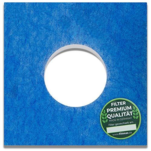 10 Filter für Limodor LF/ELF 226 x 226 mm, Ø 95 mm Limot Badlüfter mit Kontrollsiegel-Aufkleber 00010