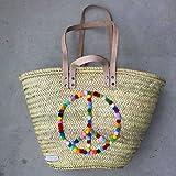 Ibizakorb 'Peace' / Korbtasche / Moroccan basket