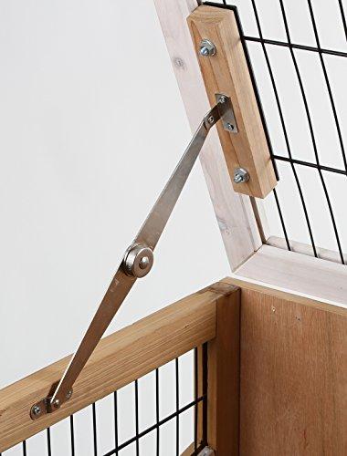 Kaninchen-Kleintierkäfig Indoor Deluxe, Kerbl, einstöckig, 115 x 60 x 92,5 cm - 3