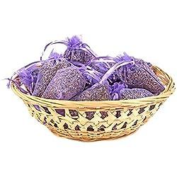Pajoma - Set de 10 saquitos de lavanda aromática ecológica (total 100g)