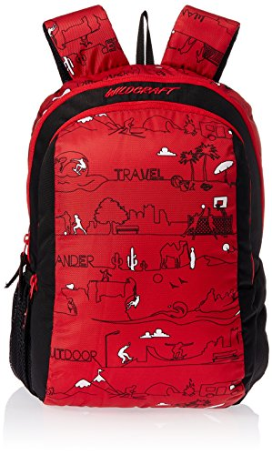 Wildcraft Scoot LD Polyester Red Kids Casual Backpack (8903338018766)