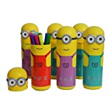 #8: Asera 12 Sets of Minion Sketch Pen Box for Kids Gift options Birthday Return Gifts- Minion Theme Party gifts