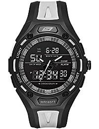 Skechers SR1069 - Reloj Casual de Cuarzo para Hombre, de plástico y Poliuretano, Color